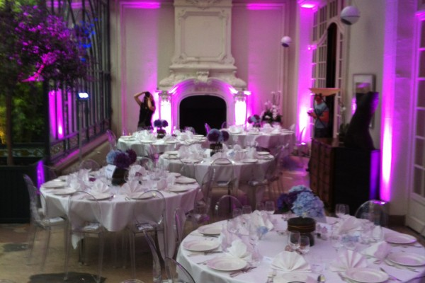événement réception dîner de prestige au jardin d'hiver